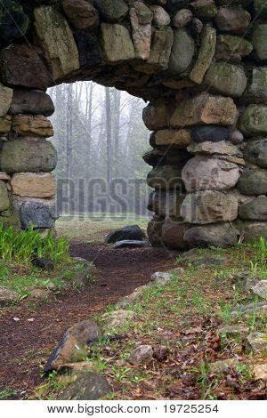Archway Through A Stone Wall