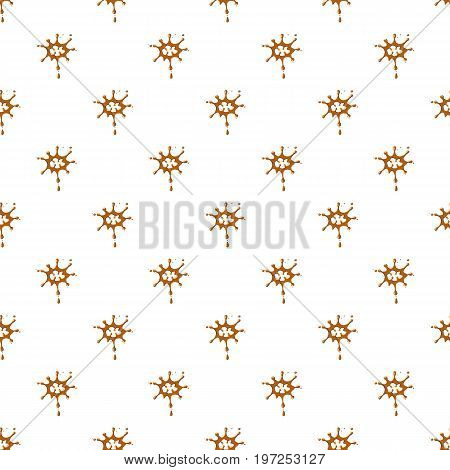 Large drops of caramel pattern seamless repeat in cartoon style vector illustration