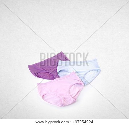 Panty Or Close Up Women Panties On Background.