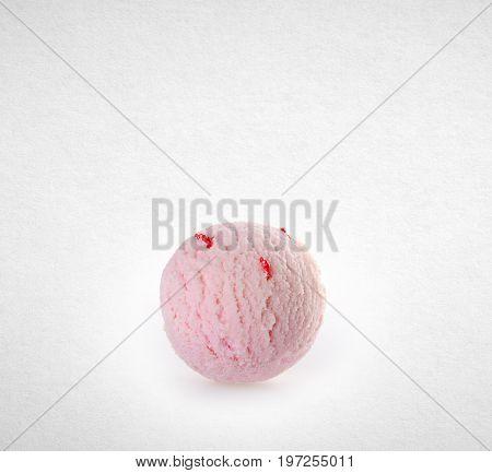 Ice Cream Scoop Or Ice Cream Ball On The Background.