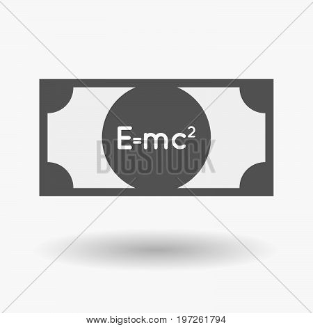 Isolated Bank Note With The Theory Of Relativity Formula