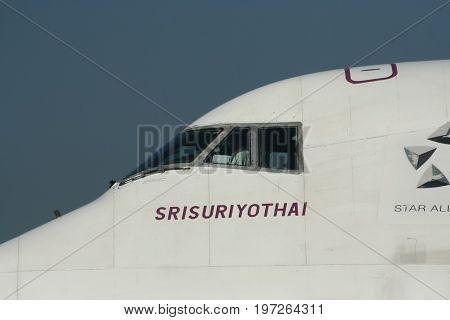 Hs-tga Boeing 747-400 Of Thaiairway