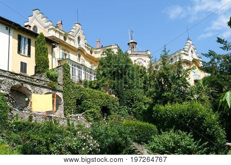 Montagnola, Switzerland - 28 June 2007: the house where the famous writer Hermann Hesse lived for thirty years of his life at Montagnola on the italian part of Switzerland