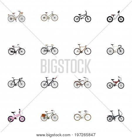 Realistic Childlike , Journey Bike, Brand Vector Elements