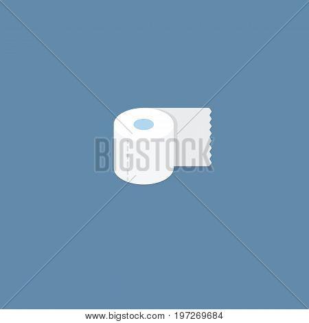 Toilet Tissue Illustration. Flat Design of Toilet Paper