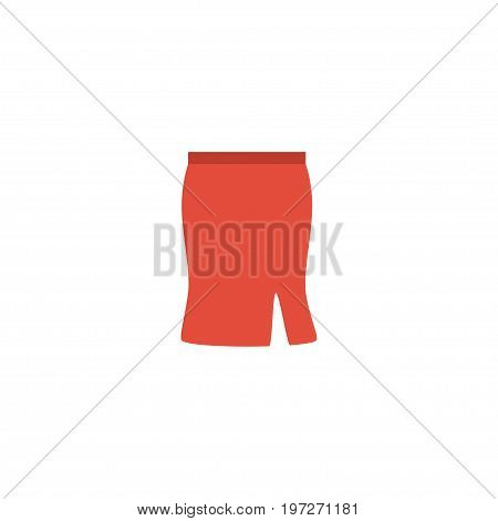 Flat Icon Skirt Element. Vector Illustration Of Flat Icon Apparel Isolated On Clean Background