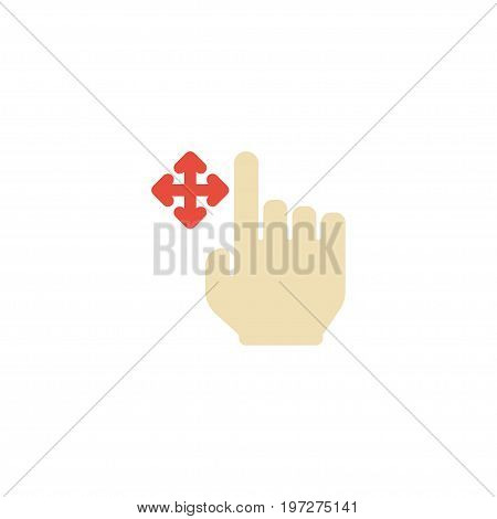 Flat Icon Drag Element. Vector Illustration Of Flat Icon Enlarge Isolated On Clean Background