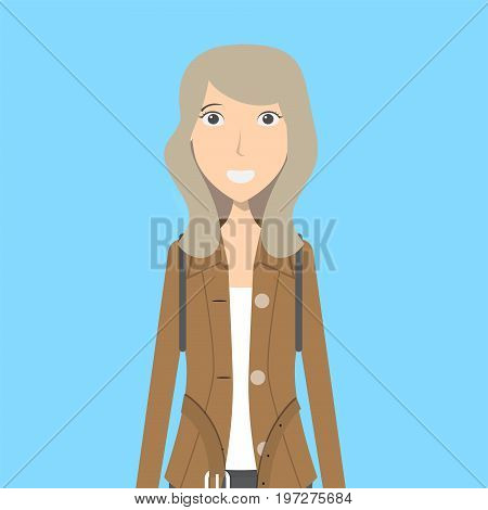 Journalist Character Female | set of vector character illustration use for human, profession, business, marketing and much more.The set can be used for several purposes like: websites, print templates, presentation templates, and promotional materials.