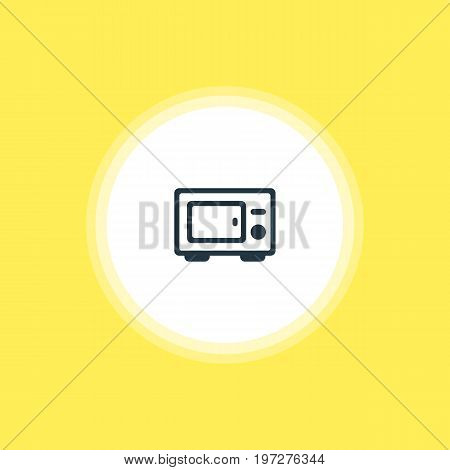 Beautiful Restaurant Element Also Can Be Used As Oven  Element.  Vector Illustration Of Microwave Icon.