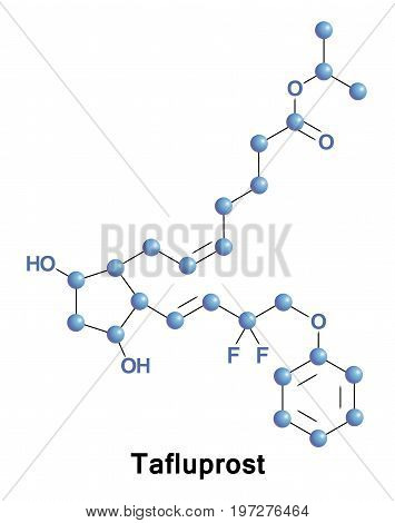 Tafluprost is a prostaglandin analogue. It is used topically to control the progression of open-angle glaucoma and in the management of ocular hypertension