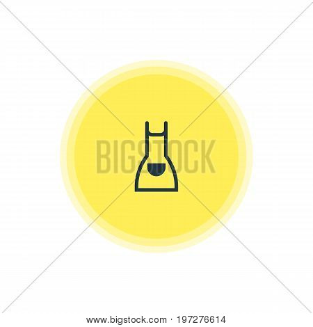 Beautiful Cooking Element Also Can Be Used As Smock Element.  Vector Illustration Of Apron Icon.