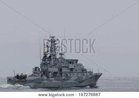MINEHUNTER -  Swedish warship at Baltic Sea