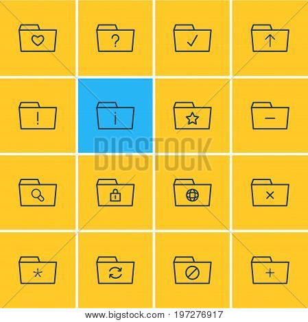Editable Pack Of Dossier, Recovery, Closed And Other Elements.  Vector Illustration Of 16 Document Icons.