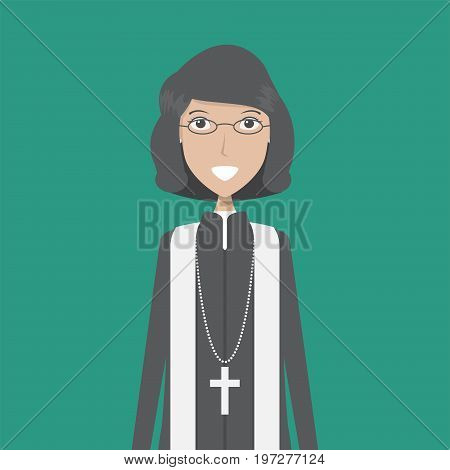 Lecturer Pastor Character Female | set of vector character illustration use for human, profession, business, marketing and much more.The set can be used for several purposes like: websites, print templates, presentation templates, and promotional material