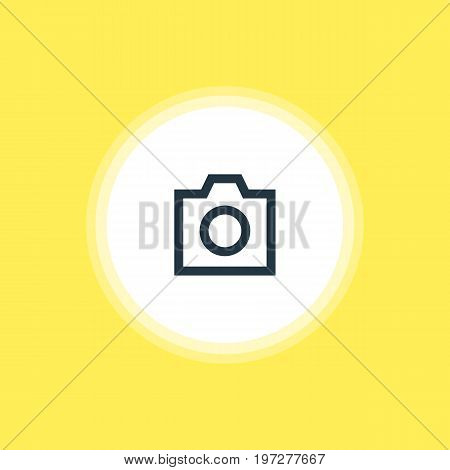 Beautiful Interface Element Also Can Be Used As Snapshot  Element.  Vector Illustration Of Camera Icon.