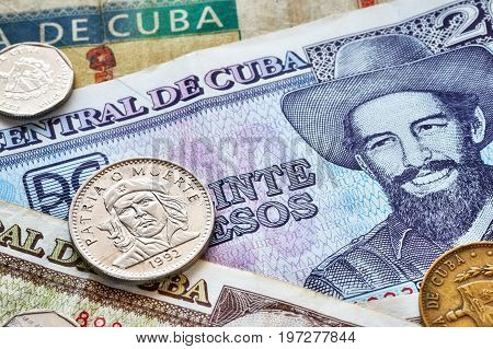 Close Up Picture Of Cuban Peso.