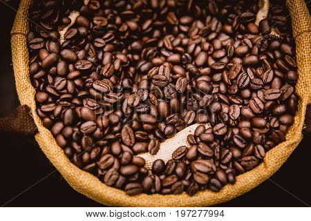 Perfect Big Coffee Bean Arabica Rosted Cafe Background Photogrphy Decoration.