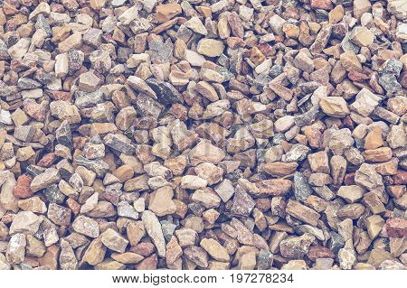 Crushed Red Granite Stone, Gravel Background 2