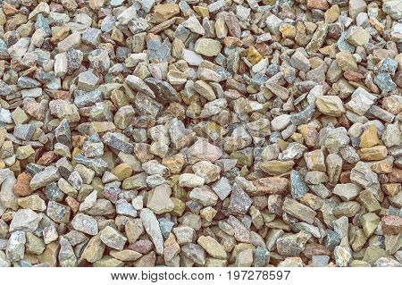 Crushed Red Granite Stone, Gravel Background 3