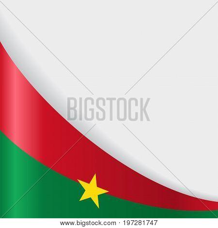 Burkina Faso flag wavy abstract background. Vector illustration.