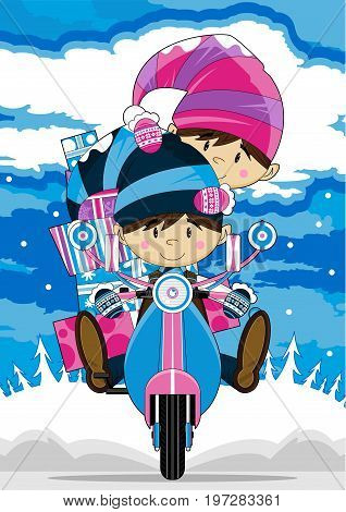 Elf On Scooter 9