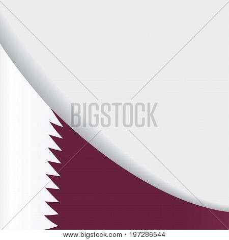 Qatari flag wavy abstract background. Vector illustration.