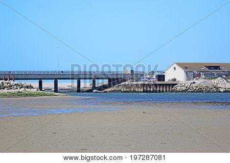 Ferrybridge across the River Fleet in Portland harbour