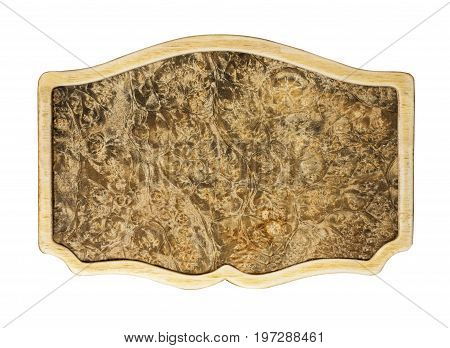 Background frame of a Karelian birch on a white background