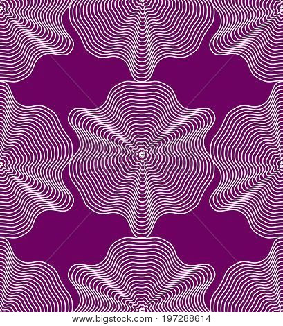 Colorful illusive abstract seamless pattern with geometric figures. Vector symmetric simple backdrop.