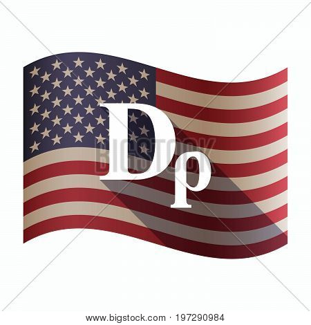 Isolated  Usa Flag With A Drachma Currency Sign