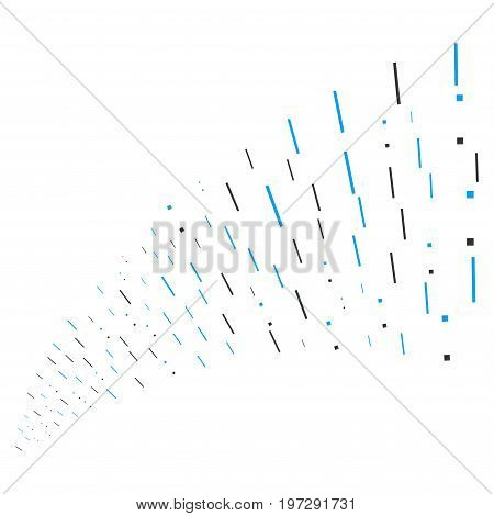 Fountain of lines and dots symbols. Vector illustration style is flat blue and gray iconic lines and dots symbols on a white background. Object fountain organized from design elements.