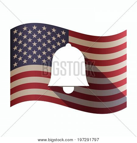 Isolated  Usa Flag With A Bell