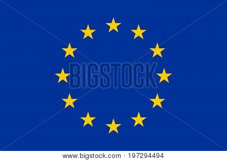 Official the current flag of the European Union and the Council of Europe. Vector illustration.
