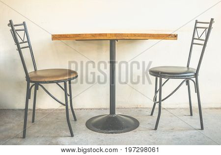 Simplicity set of dining and tea table. Classic and contemporary furniture