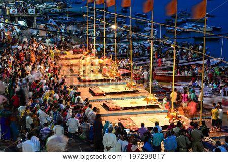 Ganga Maha Aarti Ceremony (fire Puja)