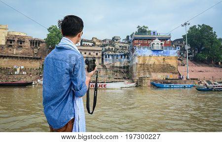 A Tourist In Varanasi, India