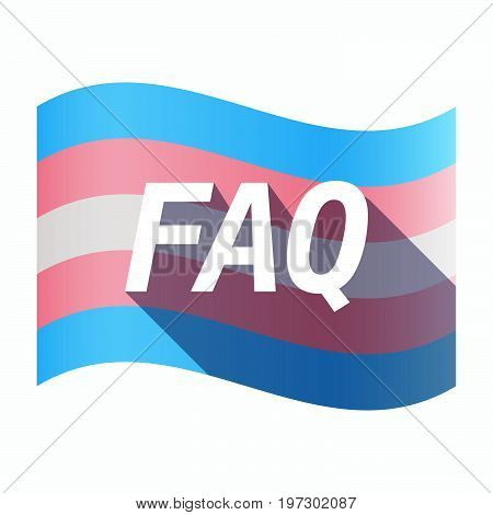 Isolated Transgender Flag With    The Text Faq
