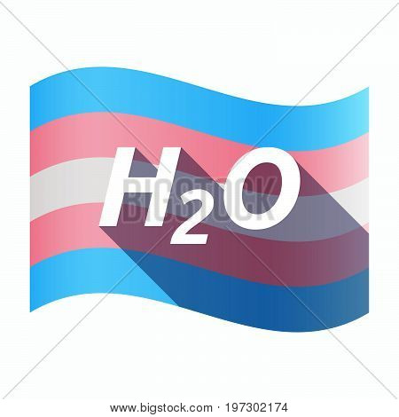 Isolated Transgender Flag With    The Text H2O
