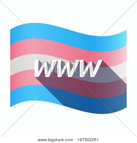 Isolated Transgender Flag With    The Text Www