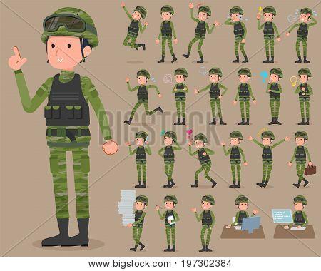 Flat Type Military Wear Man_1