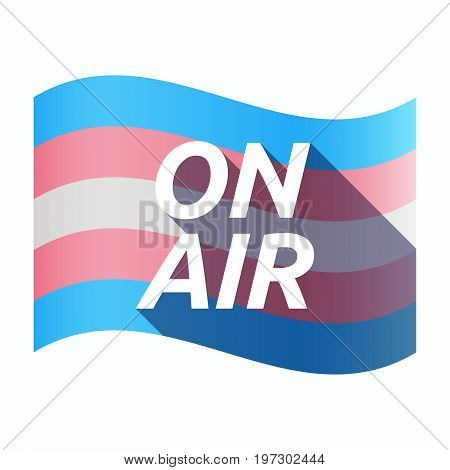 Isolated Transgender Flag With    The Text On Air