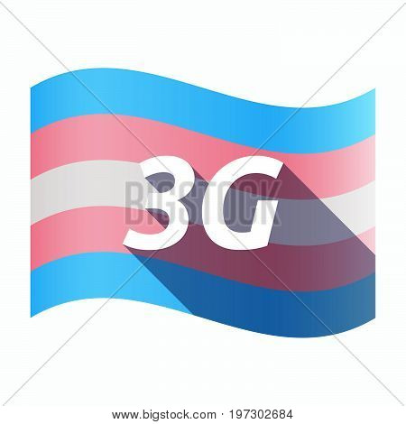 Isolated Transgender Flag With    The Text 3G