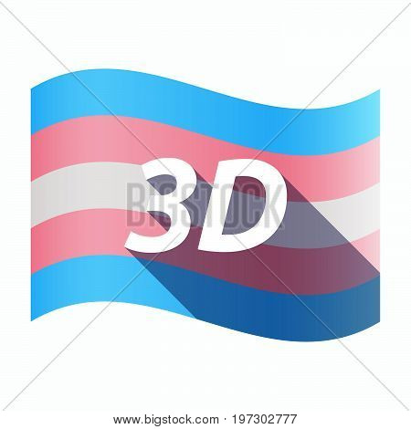 Isolated Transgender Flag With    The Text 3D