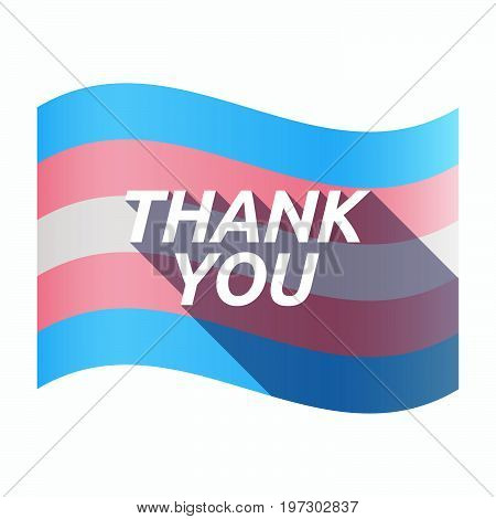 Isolated Transgender Flag With    The Text Thank You
