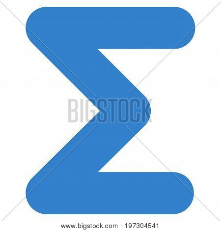 Sum vector icon. Flat cobalt symbol. Pictogram is isolated on a white background. Designed for web and software interfaces.