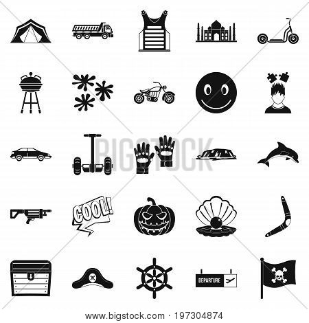 Relax at the hotels icons set. Simple set of 25 relax at the hotels icons for web isolated on white background