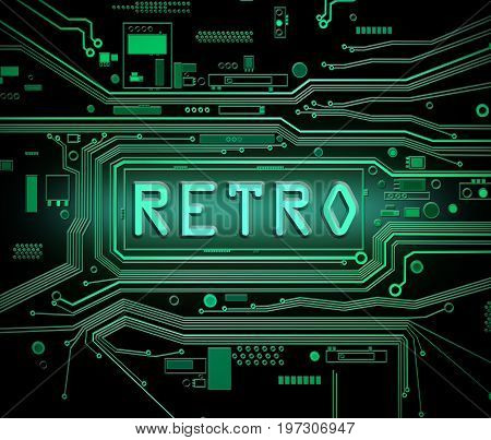 Retro Technology Concept.