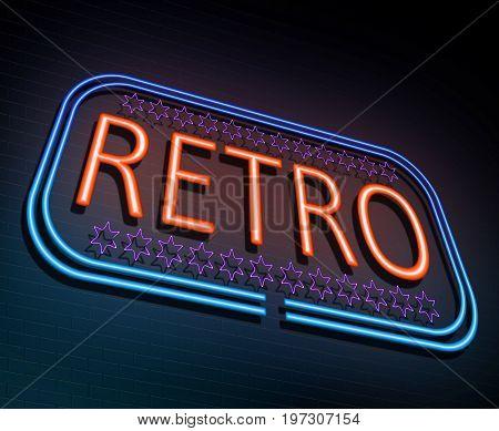 Neon Retro Concept.