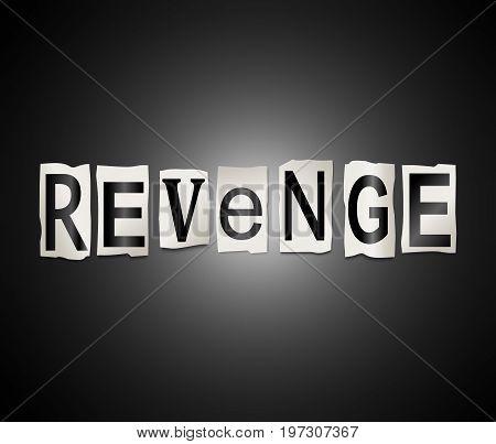 Revenge Word Concept.