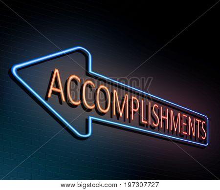 Neon Accomplishment Concept.